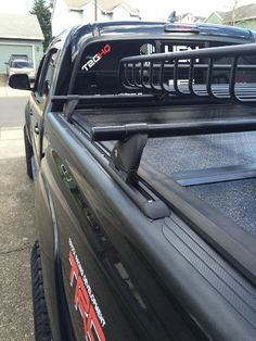 Click this image to show the full-size version. Toyota Tacoma Roof Rack, 2017 Toyota Tacoma, Tacoma Truck, Toyota Hilux, Buy Toyota, Chevy Colorado Accessories, Cool Truck Accessories, Toyota Trucks, Ford Trucks