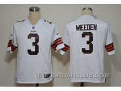http://www.nikejordanclub.com/nike-nfl-cleveland-browns-3-weeden-white-game-jerseys-6knrj.html NIKE NFL CLEVELAND BROWNS #3 WEEDEN  WHITE GAME JERSEYS 6KNRJ Only $23.00 , Free Shipping!