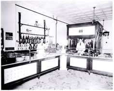 A meat market in Ferndale MI. 1923. Notice the sawdust on the floors. This was to help soak up the blood from the freshly slaughtered meat, but also to help absorb the mud that was brought in from the customers feet dealing with the horrible roads and streets at the time.