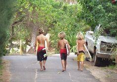 my three little blonde surfer boys