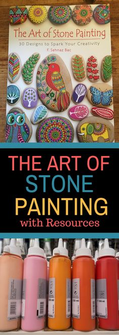 The Art of Stone Painting Book Review and Resources - Take a look at this amazing book and learn how to improve your rock painting techniques. #rockpainting #stonepainting #theartofstonepainting #artofstonepainting #rockpaintingideas #rockpaintingidea #rockpaintingsupplies #stonepainting #stonepaintingideas #stonepaintingbook #rockpaintingbook