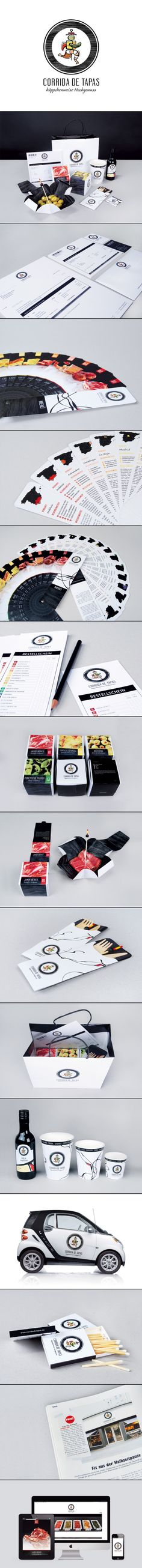 Corrida de Tapas, espectacular #diseño  Time for lunch #identity #packaging #branding PD
