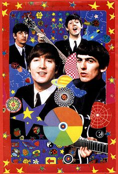 The Beatles Collection- psychedelic Beatles Love, Les Beatles, Beatles Art, Stuart Sutcliffe, Ringo Starr, Paul Mccartney, John Lennon, George Harrison, Mundo Hippie
