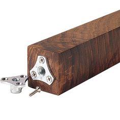 Folded table hardware