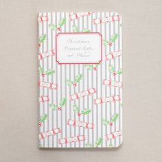 christmas planning notebook by fraser & parsley   notonthehighstreet.com