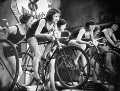 Vintage women on bicycles:-)