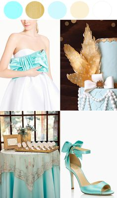 Aqua and gold wedding palette http://www.theperfectpalette.com/2014/03/surprise-sale-wedding-edition.html