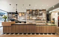 Restaurant Design, Café Restaurant, Modern Restaurant, Coffee Shop Design, Cafe Design, Design Shop, Coffee Shop Interior Design, Coffee Cafe Interior, Design Design