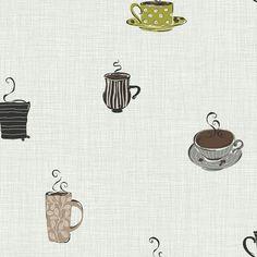 Found it at Wayfair - York Wallcoverings Bistro 750 Coffee Mug Prepasted Wallpaper Toile Wallpaper, Prepasted Wallpaper, Kitchen Wallpaper, Luxury Wallpaper, Wallpaper Murals, Green Wallpaper, Custom Wallpaper, Graphic Design Pattern, Joss And Main