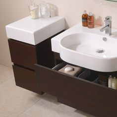 The Madrid Walnut Wall Hung Storage Unit Is A Great Solution In Any Bathroom And Compliments Both Vanity Units Perfectly