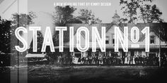 Station Font: Station is a bold headline typeface inspired by old Train Station type and graphics. It can be used in a modern and retro way, and its dif. Bold Typography, Typography Letters, Graphic Design Typography, Branding Design, Hand Lettering, Logo Design, Old Train Station, Window Signs, Font Face