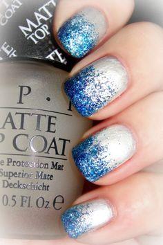 Frozen inspired glitter nail polish