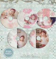 CD labels photoshop templates Valentines CD Label by StudioBeeKay, $20.00