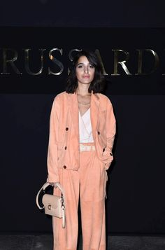 Singer Levante in a TRUSSARDI look at the TRUSSARDI Fall Winter 2016/17 Womenswear show #Trussardi