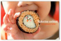 Ghost roll onigiri.    Super cute and kawaii edibles. Food art