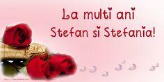La multi ani Stefan si Stefania! Happy Birthday, Sf, Happy Brithday, Urari La Multi Ani, Happy Birthday Funny, Happy Birth