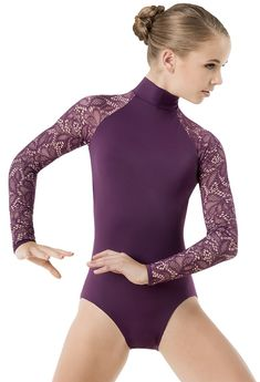 Leotard With Lace Long Sleeves | Balera™ Dance Outfits, Dance Dresses, Contemporary Dance Costumes, Pullover Shirt, Gymnastics Outfits, Ballet Clothes, Dance Leotards, Dance Fashion, Skating Dresses