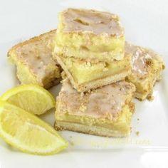 Delicious glazed lemon bars