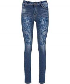 Creative Cutwork Jeans, Women, Jeans, Trousers