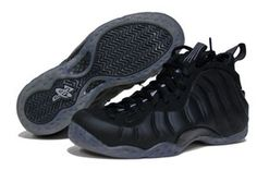 Nike Foamposite Stealth- ugly shoe that looks kinda dope in black. Ugly Shoes, Men's Shoes, Shoes Sneakers, Nike Foamposite, Nike Kicks, Nike Air Shoes, Nike Windbreaker, Fresh Shoes, Melissa Shoes