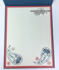 Stampin' Up! A Paisley Time of Year for the Happy Stampers Blog Hop | Stamps – n - Lingers