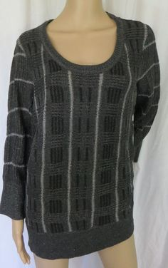 """SIMPLY VERA WANG"" BLACK SWEATER BLOUSE  - PLEASE SEE ALL PICTURES #SIMPLYVERAWANG #KnitTop"