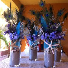 1000 Images About Peacock Centerpieces On Pinterest