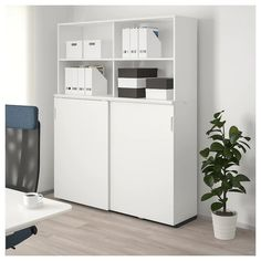IKEA - GALANT, Storage combination w sliding doors, white, Limited Warranty. Read about the terms in the Limited Warranty brochure. Ikea Office Storage, Door Storage, Storage Cabinets, Tall Cabinet Storage, Locker Storage, Ikea Galant, Ikea Canada, Office Cabinets, Office Cabinet Design