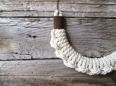 Hey, I found this really awesome Etsy listing at https://www.etsy.com/listing/163734820/white-rope-knot-necklace-knotted