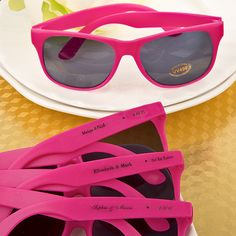 Pink Retro Personalized Sunglasses - Perfect favors for a summer backyard party for both kids and adults!