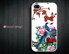 iphone 4 covers cases iphone 4s case iphone 4 cover painting in elaborate style bird and flower iphone case design. $13.99, via Etsy.