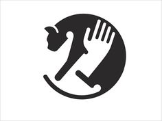 Because of the counter space, it's visible that a person is holding a cat. This could be used as inspiration for logos. Typography Logo, Logo Branding, Lettering, Tableau Logo, Logo Inspiration, Logo Animal, Logos Online, Negative Space Logos, Abstract Logo