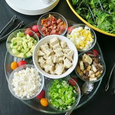 Cobb Salad Bar. Find more great recipes at www.sundaysuppermovement.com. #SundaySupper #WeekdaySupper