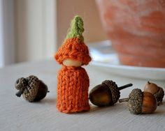 Waldorf Toy Pumpkin Sprite by thiscosylife on Etsy, $8.00