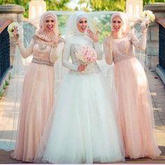 2015 Elegant Muslim Hijab Wedding Dresses Long Sleeve A-line Dubai Wedding Gown Shiny Beads High Neck Vestidos De Noiva Bridal Gowns Hijabi Wedding, Muslimah Wedding Dress, Muslim Wedding Dresses, Princess Wedding Dresses, Long Bridesmaid Dresses, Bridal Dresses, Wedding Gowns, Dubai Wedding, Muslim Brides