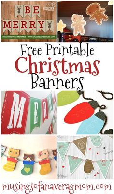 36 Ideas diy christmas paper garland free printable for 2019 Merry Christmas Banner Printable, Printable Christmas Decorations, Diy Christmas Garland, Holiday Banner, Christmas Banners, Free Christmas Printables, Diy Christmas Cards, Christmas Paper, Christmas Themes