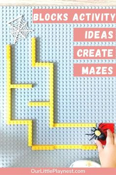 Block activity ideas for kids to play and learn. Play-based learning for children Problem Solving Activities, Teaching Activities, Craft Activities For Kids, Toddler Activities, Preschool Activities, Craft Ideas, Toddler Preschool, Toddler Crafts, Toddler Toys