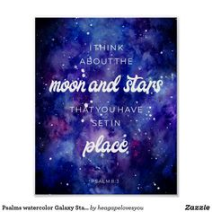 Shop Psalms watercolor Galaxy Stars Bible Verse Quote Poster created by heagapelovesyou. Star Bible Verse, Bible Verse Painting, Bible Verse Tattoos, Bible Verses Quotes, Scriptures, Christian Posters, Christian Quotes, Galaxy Quotes, Galaxy Drawings