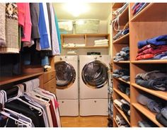 bedroom closets with built in laundry - Google Search - Dream idea!!! Master bedroom closet with a laundry room!!