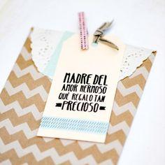"""Sello """"Madre del amor hermoso qué regalo tan precioso"""". A la venta en: www.mrwonderfulshop.es"""