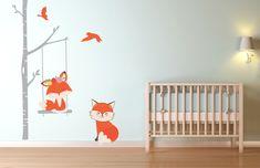 Fox & Tree ~ Kidz 'n Clan Decor Wall Stickers Kids Wall Decals, Wall Stickers, Tuff Tray, Next Door, Bedroom Themes, Tree Wall, Baby Room, Fox, Wall Decor