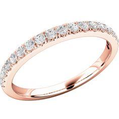 A classic Round Brilliant Cut diamond set wedding/eternity ring in 18ct rose gold from Purely Diamonds www.purelydiamonds.co.uk