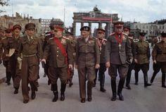 Field Marshal Sir Bernard Montgomery decorates Soviet generals at the Hindenburg Platz near Brandenburg Gate in Berlin, Germany, 12 July Bernard Montgomery, Brandenburg Gate, History Online, Red Army, British Army, Military History, World War Two, First World, Wwii