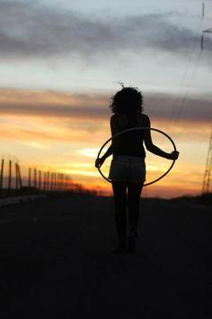 #hoop dance #hula hoop #sunset