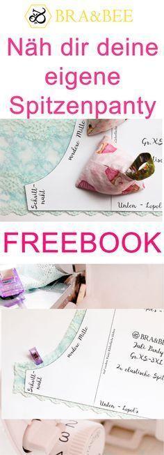 Julipanty von BRA&BEE | Freebie | kostenloses Schnittmuster | kostenlos | nähanleitung | Schnitt | pattern | selber nähen | sewing | lingerie | unterwäsche | anleitung | unterhose | gratis | sexy | spitze | lace | spitzendessous | slip | briefs | braandbee Lace Knitting Patterns, Sewing Patterns Free, Free Sewing, Victoria Secret Underwear, Diy Bra, Pink Two Piece, Bum Workout, Diy Mode, Sewing Lingerie