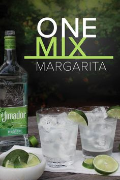Celebrate this summer with easy to make and refreshing el Jimador Mexican Lime One Mix Margaritas. Impress your friends with this classic cocktail in 4 simple steps. Because every day can be Margarita Monday… 1) Fill shaker with ice, 2) mix 2 oz. el Jimador Mexican Lime Tequila and 0.25 oz. fresh lime juice, 3) strain into tumbler, and 4) garnish with a lime wedge. Salud!