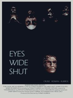 Eyes wide shut (1999) Scary poster!