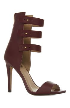 An Attractive Limited Burgundy Peep Toe Strap Heel For Primark Ladies