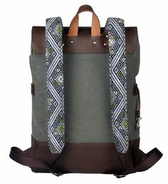 Discover Mexican Culture Through our unique Backpacks Handcraft item Materials: Genuine Long Lasting Durable Leather, Handmade Natural Leather, Metal Buckles, loom made in Chiapas. *Includes a repair kit for the leather