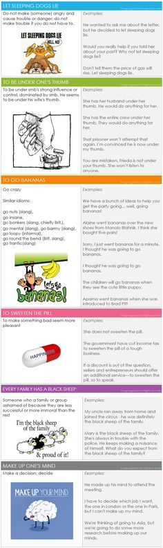 Idioms in pictures - learn English,idioms,english